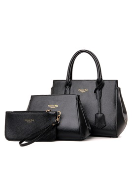 Solid Pure Color Womens Bag Set Three Bags