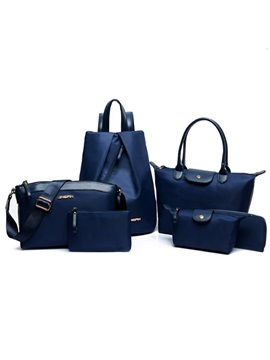 Pure Color Nylon Bag Set