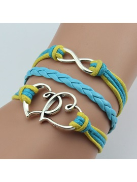 Multilayer Handmade Double Heart Love Bracelet