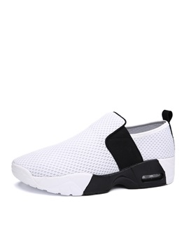 Contrast Color Mesh Slip On Shoes For Men