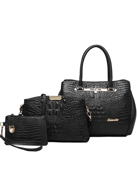 Vintage Sexy Croco Embossed Bag Set