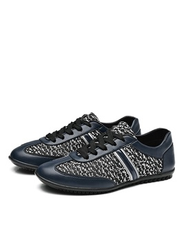 Pu Patchwork Mens Casual Shoes