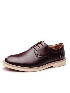 Elegant Pu Plain Toe Mens Casual Shoes