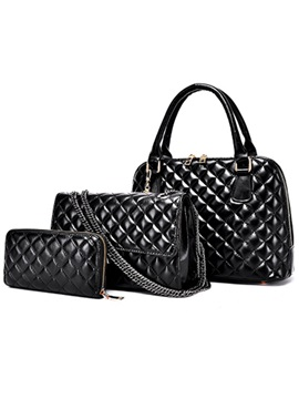 Classic Plaid Pattern Womens Bag Set Three Bags
