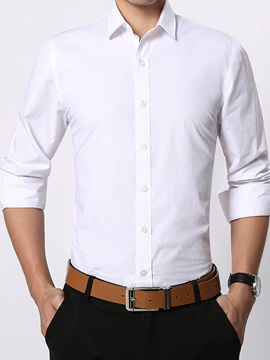 Slim Fit Plain Multicolor Mens Casual Shirt