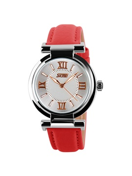 Simple Round Dial Womens Belt Watch