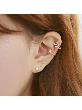 Lovely Bird Shaped Rhinestones Ear Cuff