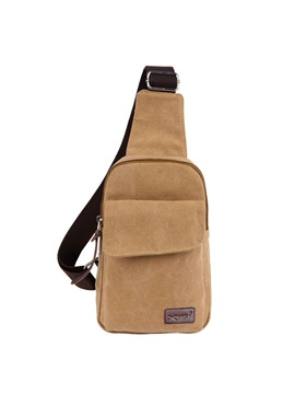 Canvas Out Pocket Zipper Chest Pack
