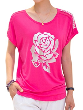 Special Floral Printed Knitting T Shirt