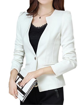 Stylish Collar One Button Slim Work Blazer