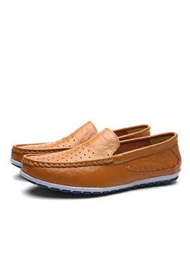 Breathable Pu Hollow Mens Loafers