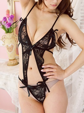 Sexy Black Womens Lace Teddies Sexy Lingerie