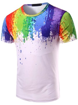 Paint Splatters Casual Mens Tee