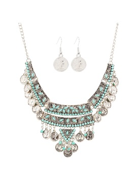 European Style Coin Tassels Jewelry Set