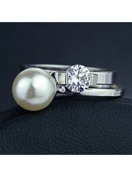Splendid Personality Pearl Inlaid Ring