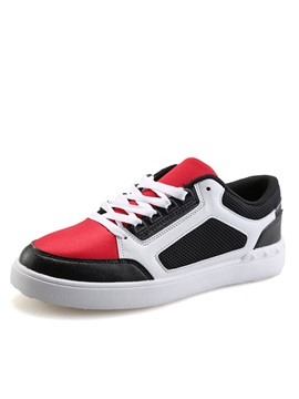 Contrast Color Lace Up Skater Shoes
