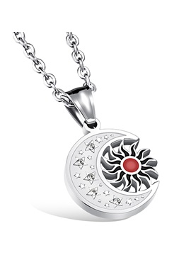 Vinitage Sun Moon Design Mens Necklace