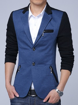 Color Block Multi Zip Slim Mens Blazer