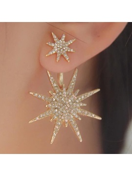 Shining Snow Shaped Diamante Earring For One
