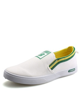 Printed Slip On Canvas Shoes For Men