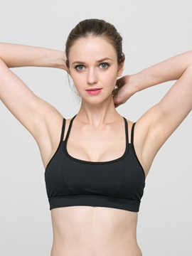 Polyester Double Strap Women Sports Bra
