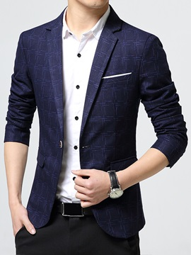 Plaid Classic Vogue Slim Fit Mens Blazer