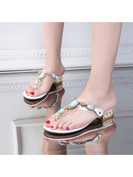 Diamond Pvc Thong Sandals