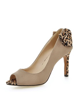 Leopard Printed Peep Toe Pumps