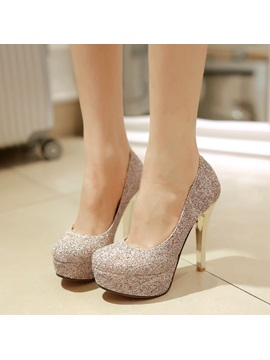 Elegant Sequins Slip On Prom Shoes