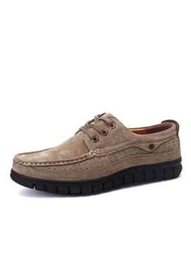 British Style Suede Thread Lace Up Casual Shoes