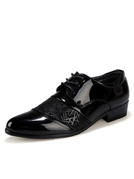 Pu Round Toe Dress Shoes