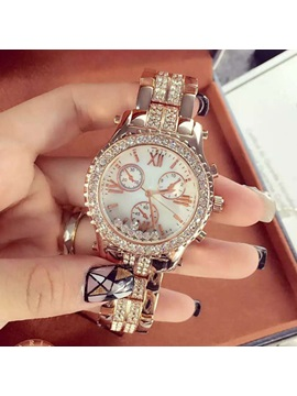 Fashion Six Pointer Rhinestones Design Women Watch