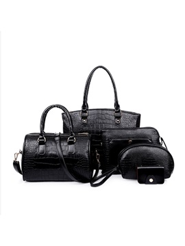 Trends Croco Grain Zipper Closed Bag Sets