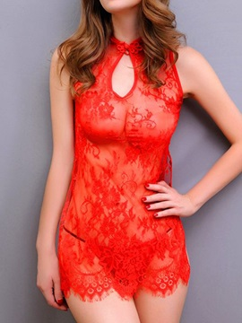 Sexy Red Lace Womens Babydoll Lingerie