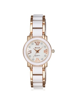 Two Tone Roman Numeral Design Womens Watch