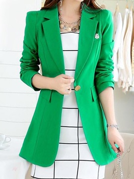 Chic Button Decoration Belt Sim Blazer