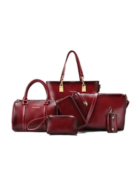 Recall Vintage Waxy Leather Handcee Womens 6 Bag Sets