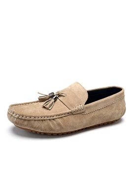 Suede Thread Slip On Driving Shoes For Men