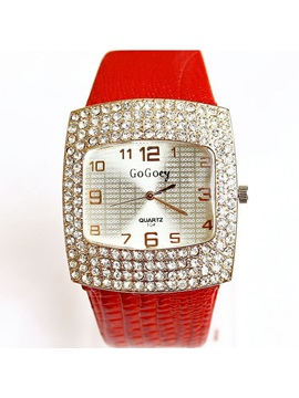 Large Dial With Rhinestones Fashion Watch