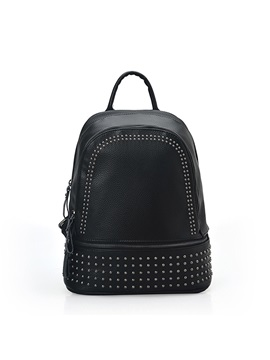 Relaxation Trip Rivets Decor Womens Backpack
