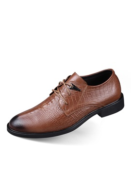 Embossed Pu Dress Shoes For Men