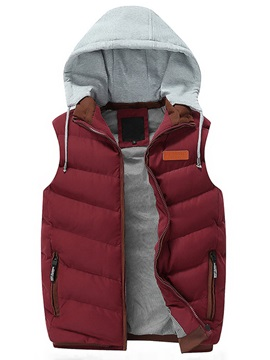 Casual Hooded Side Pockets Mens Vest