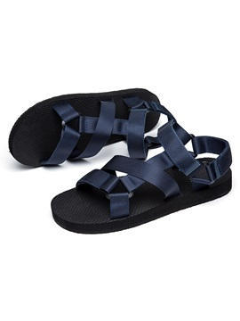 Open Toe Simple Color Sandals For Men
