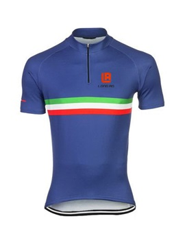 Polyester Rear Pockets Cycle Mens Jersey