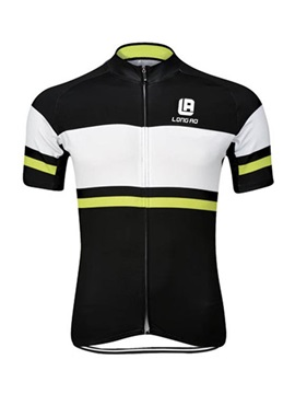 Colored Stripe Full Zip Mens Bike Jersey