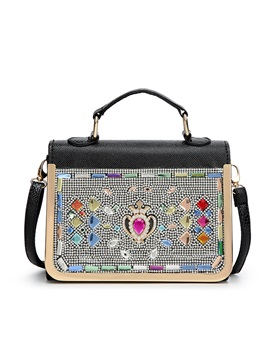 Deluxe Colors Crystal Decor Womens Satchel