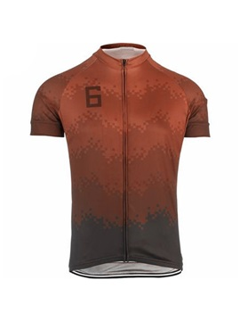 Polyester Printed Short Sleeve Mens Cycle Jersey