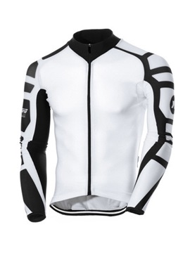 Polyester Long Sleeve Mens Cycling Jacket