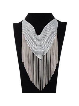 Fashion Metal Tassel Women Necklace