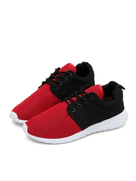 Breathable Mesh Round Toe Sneakers For Men